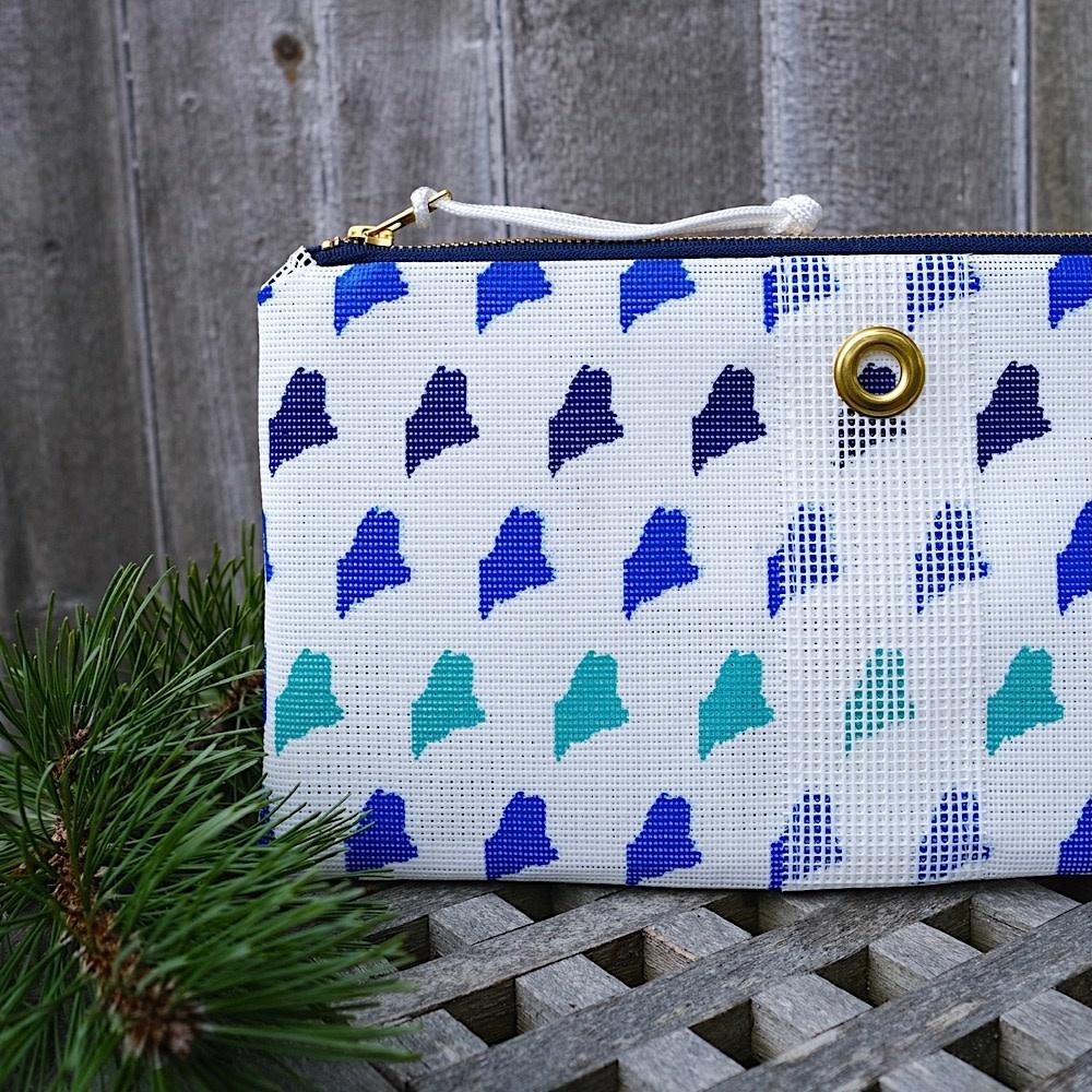 Alaina Marie Bait Bag Clutch - Custom Maine Ombre Blue
