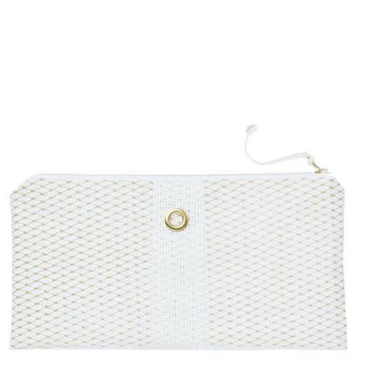 Alaina Marie Alaina Marie Bait Bag Clutch - Gold & White