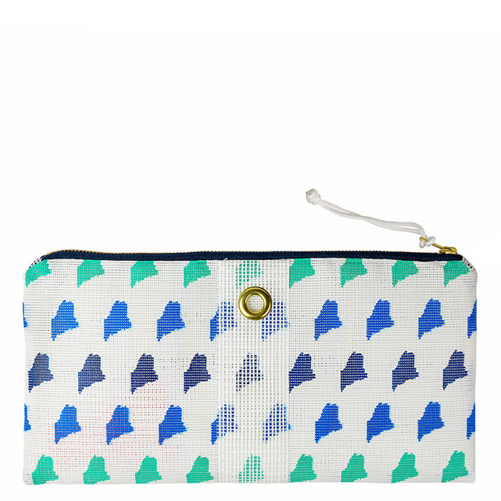 Alaina Marie Alaina Marie Bait Bag Clutch - Custom Maine Ombre Blue