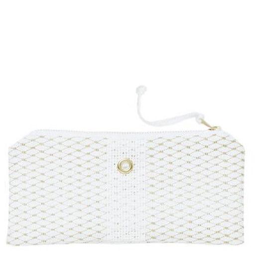 Alaina Marie Bait Bag Wallet - Gold & White