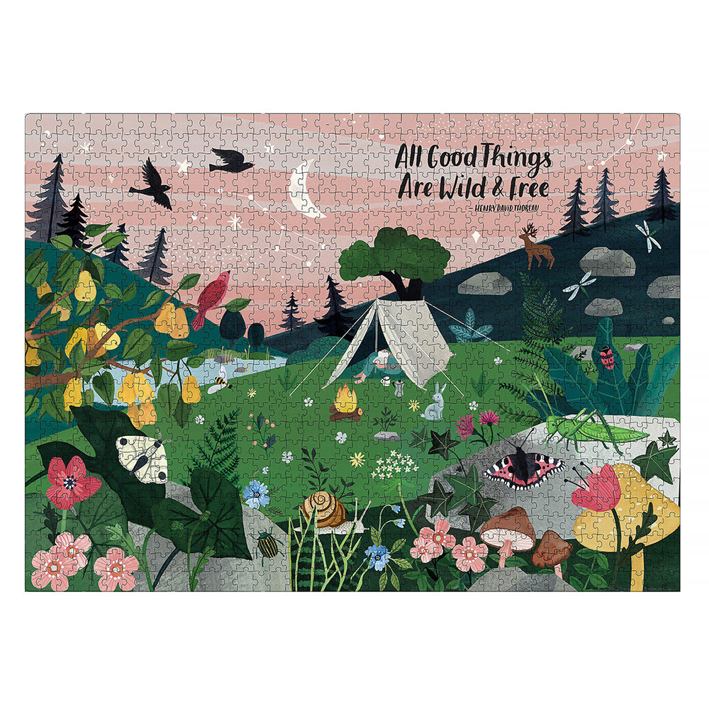 All Good Things Are Wild and Free - 1000 Piece Jigsaw Puzzle