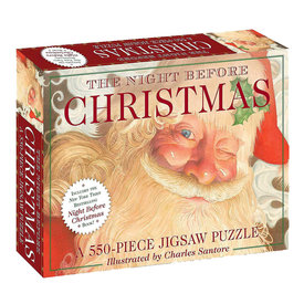 Simon & Schuster The Night Before Christmas Book & Jigsaw Puzzle - 550 Pieces