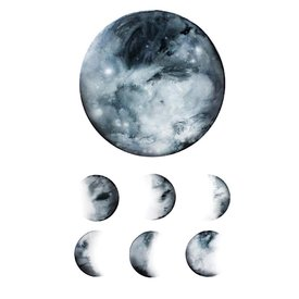Tattly Tattly Tattoo 2-Pack - Moon Phase