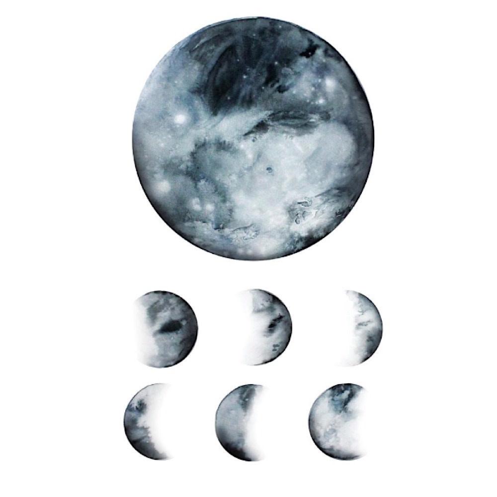 Tattly Tattly Tattoo 2-Pack - Moon Phase