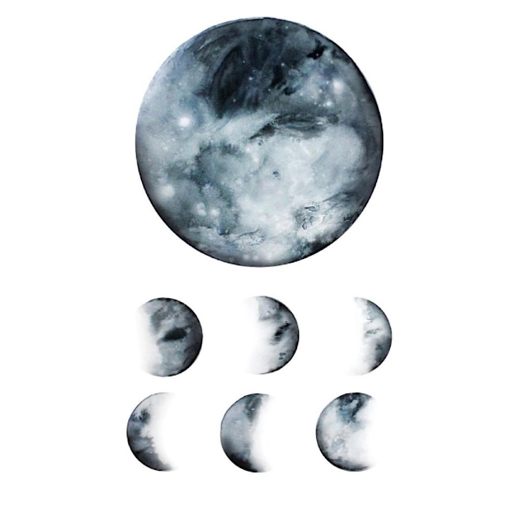 Tattly Tattoo 2-Pack - Moon Phase