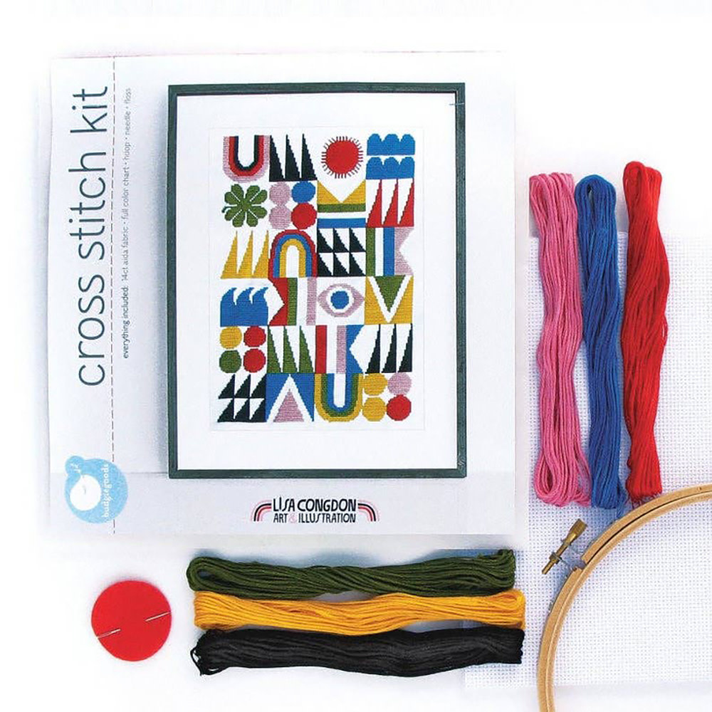 Lisa Congdon - Cross Stitch Kit - Brightside