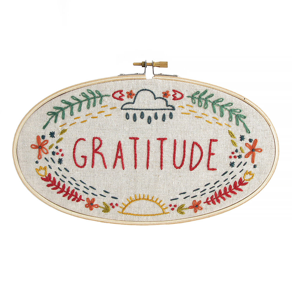 budgiegoods Little Truths Studio - Embroidery Kit - Gratitude
