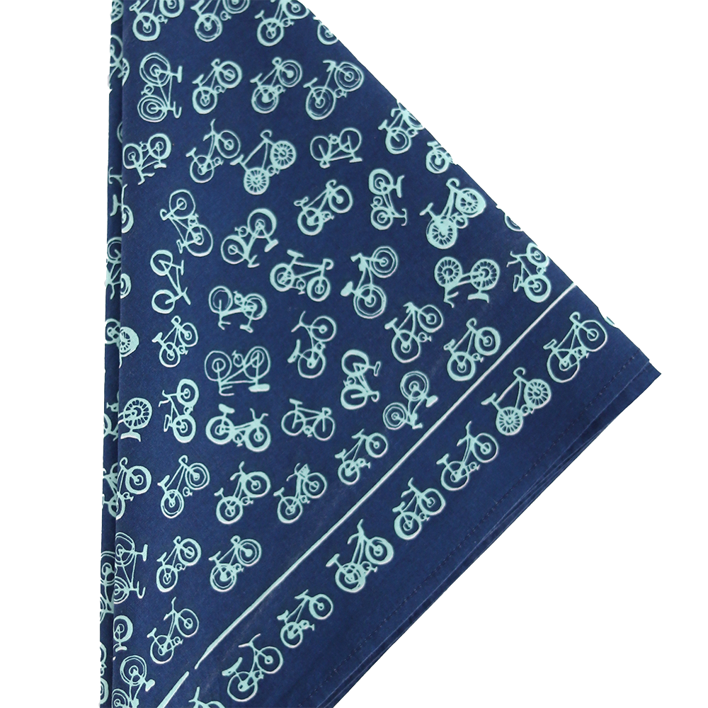 Hemlock Bandana - No. 052 Bikes Blue