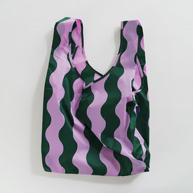 Baggu Baggu Standard - Pink and Green Wavy Stripe