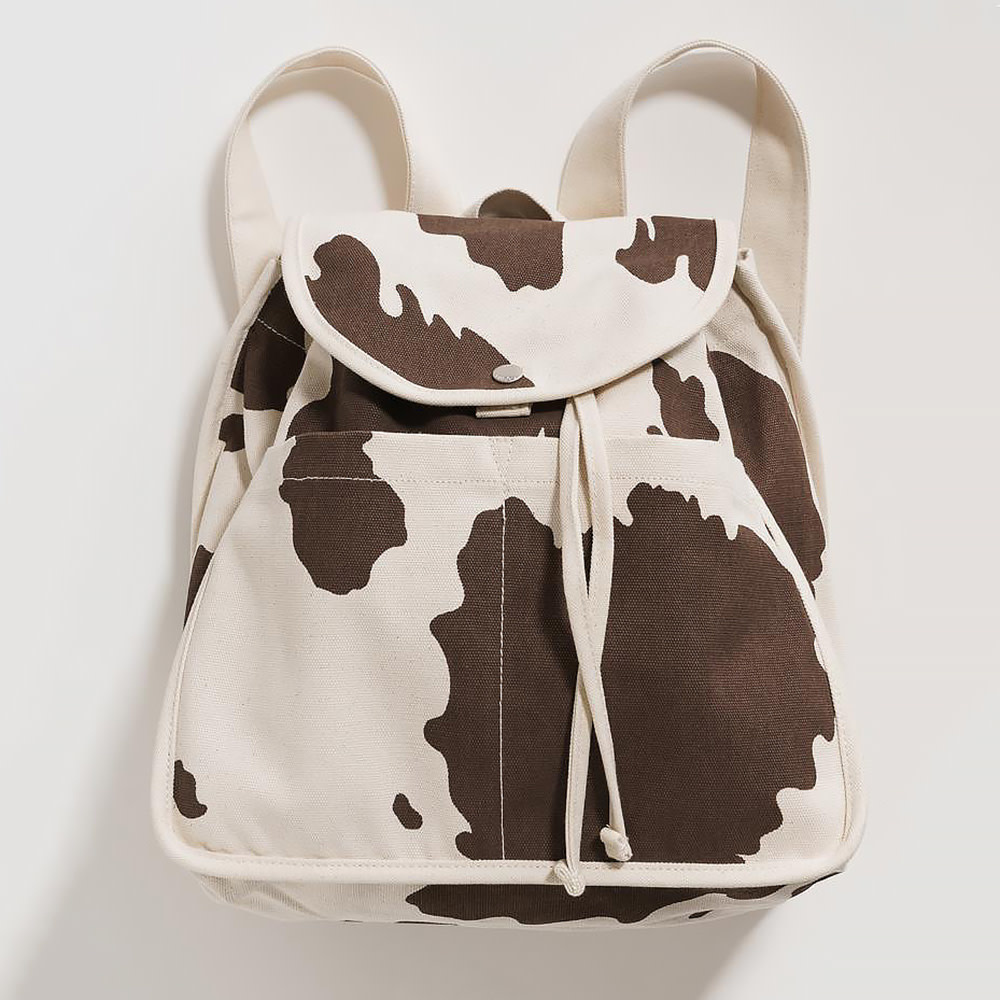 Baggu Baggu Drawstring Backpack - Brown Cow