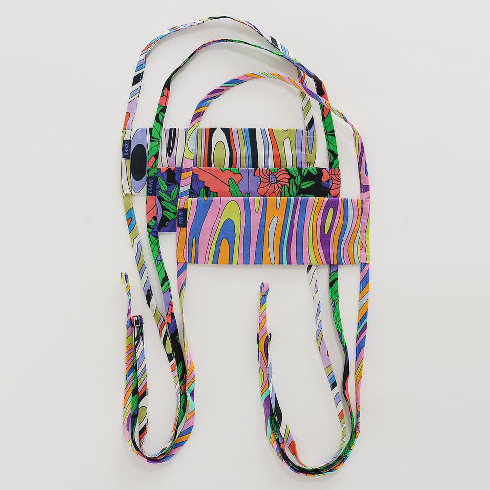 Baggu Fabric Mask Set Tie - Forest Floor