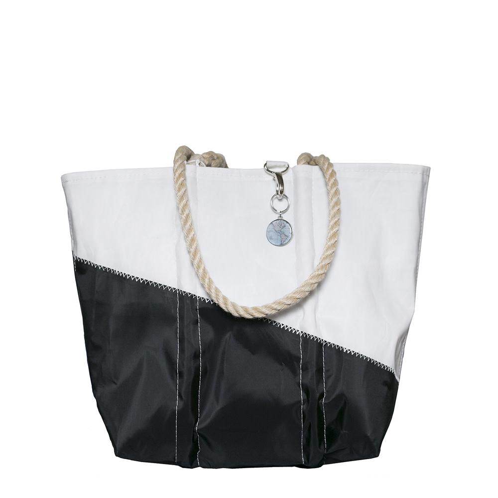 Sea Bags Sea Bags Custom Daytrip Society World Map Tote - Hemp Handle - Medium