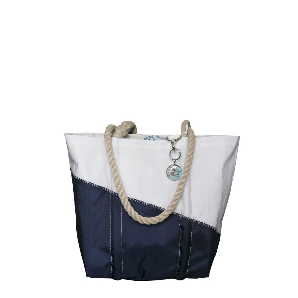 Sea Bags Sea Bags Custom Daytrip Society Maine Map Handbag Tote - Hemp Handle - Small