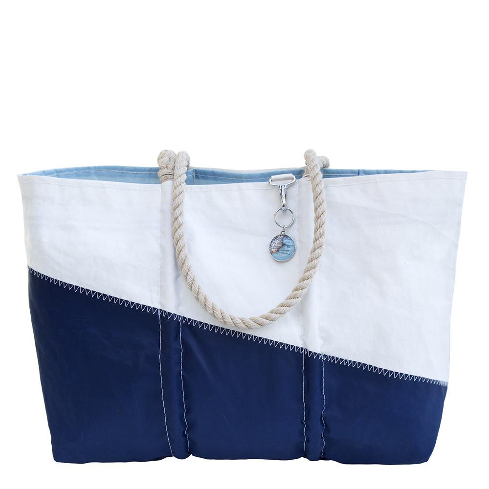Sea Bags Sea Bags Custom Daytrip Society Maine Map Tote - Hemp Handle - Large
