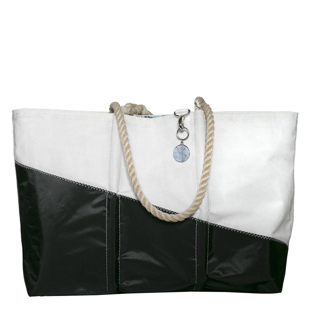 Sea Bags Sea Bags Custom Daytrip Society World Map Tote - Hemp Handles - Large