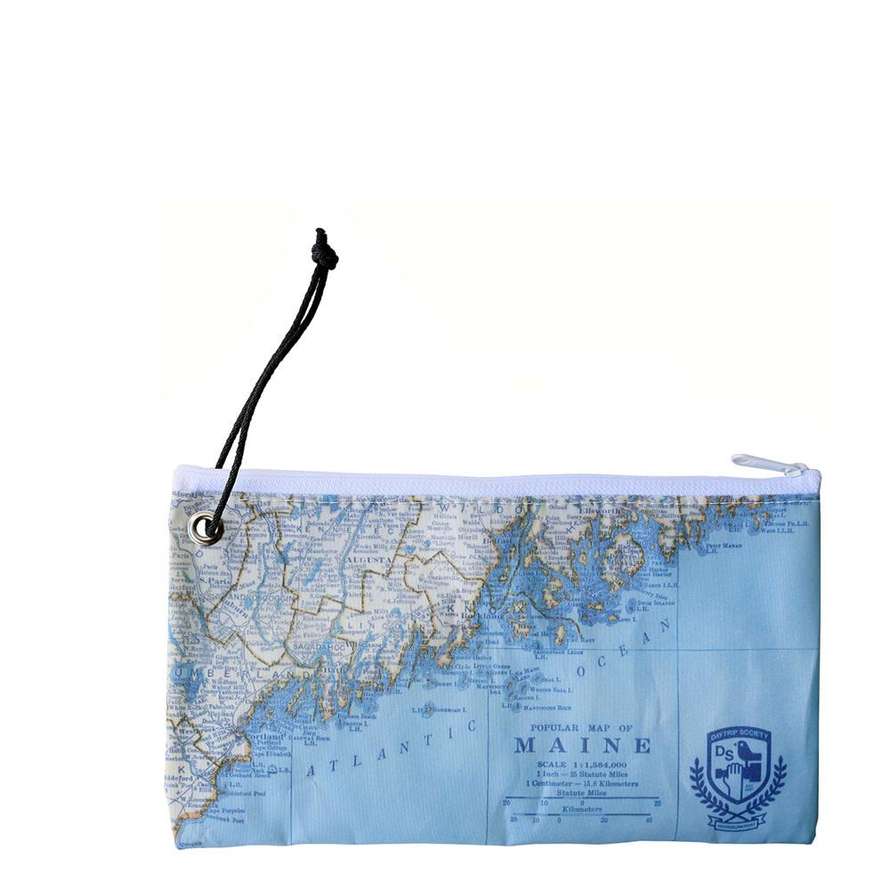 Sea Bags Sea Bags Custom Daytrip Society Maine Map Wristlet