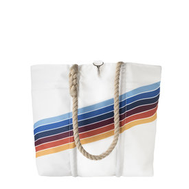 Sea Bags Sea Bags Custom Daytrip Society Retro Stripe Tote - Rainbow - Medium