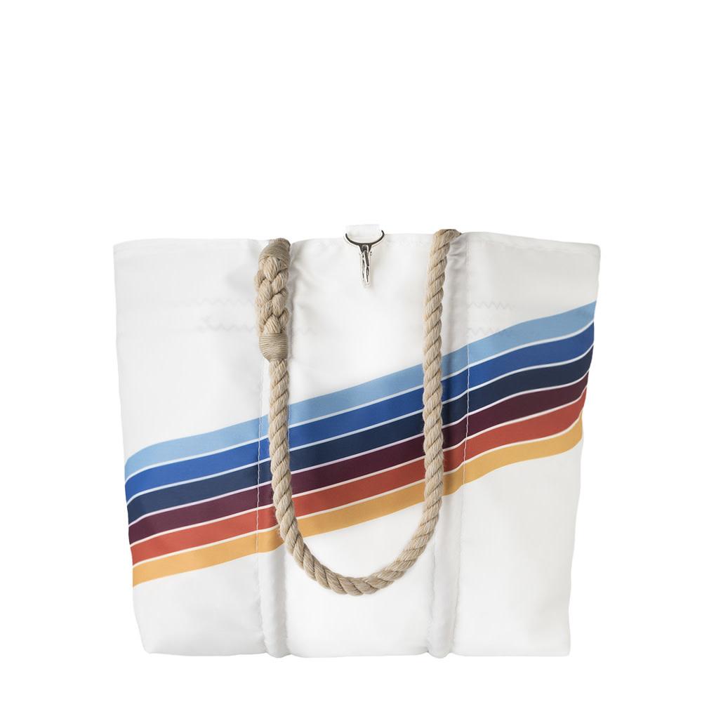 Sea Bags Sea Bags Custom Daytrip Society Retro Stripe Tote - Rainbow - Medium