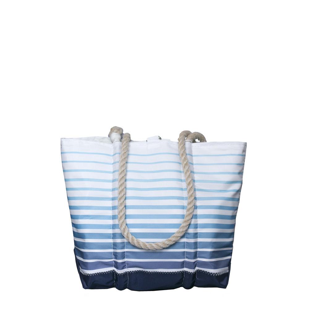 Sea Bags Sea Bags Custom Daytrip Society Ombre Stripe Tote - Hemp Handle White Whipping - Handbag