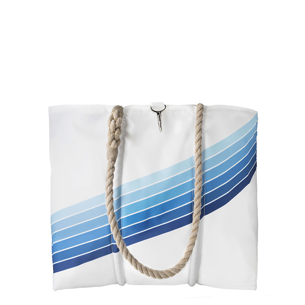 Sea Bags Sea Bags Custom Daytrip Society Retro Stripe Tote - Blue Gradient - Medium