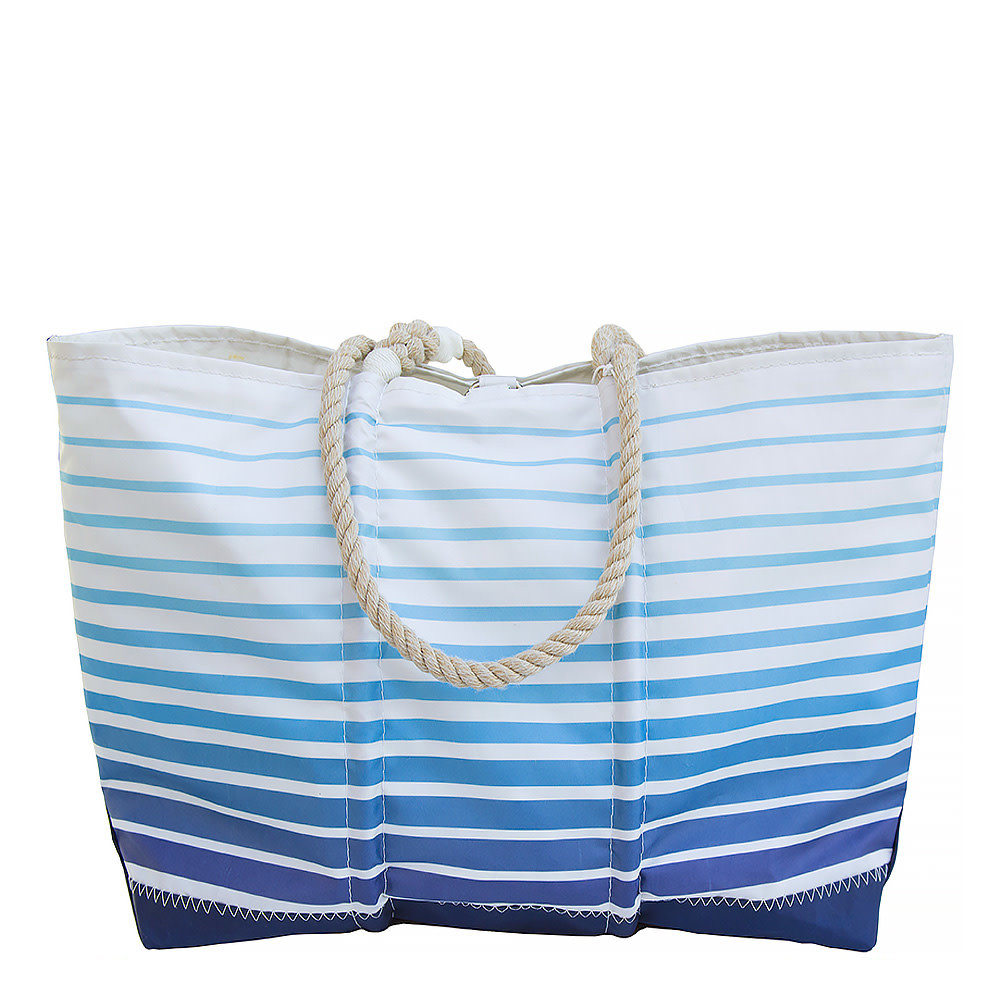 Sea Bags Sea Bags Custom Daytrip Society Ombre Stripe Tote - Hemp Handle White Whipping - Large