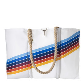 Sea Bags Sea Bags Custom Daytrip Society Retro Stripe Tote - Rainbow - Large