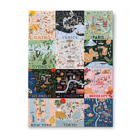 Rifle Paper Co. Rifle Paper Co. Jigsaw Puzzle - 500 Pieces - Maps