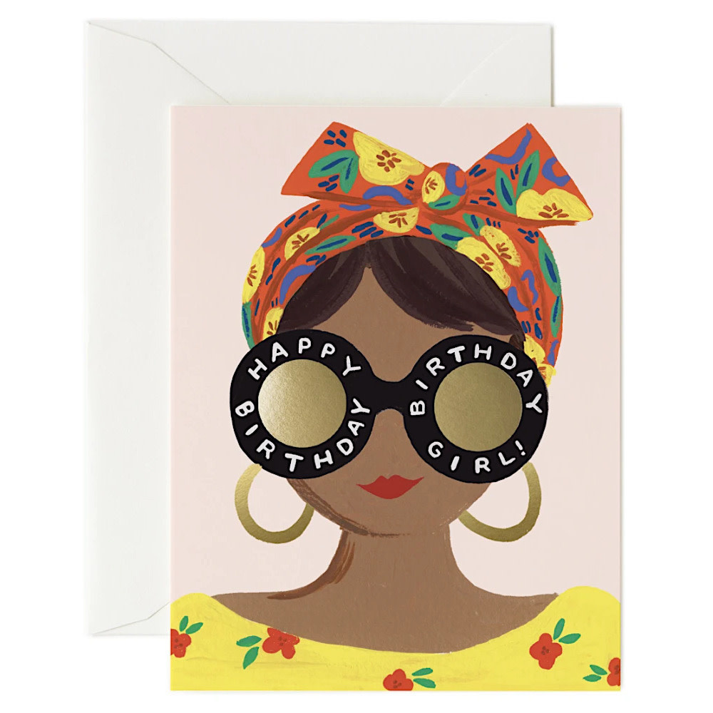 Rifle Paper Co. Card - Scarf Birthday Girl
