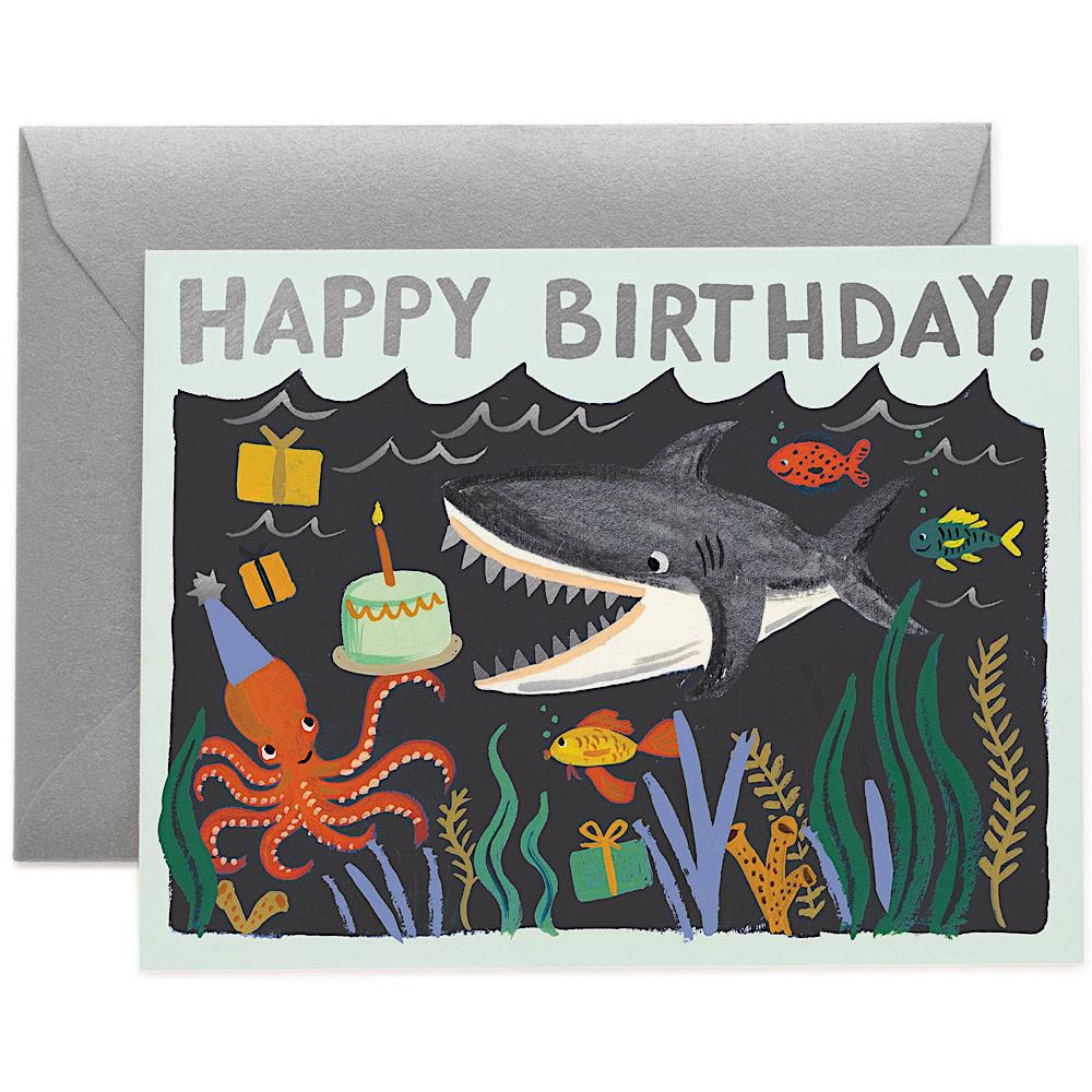 Rifle Paper Co. Card - Shark Birthday