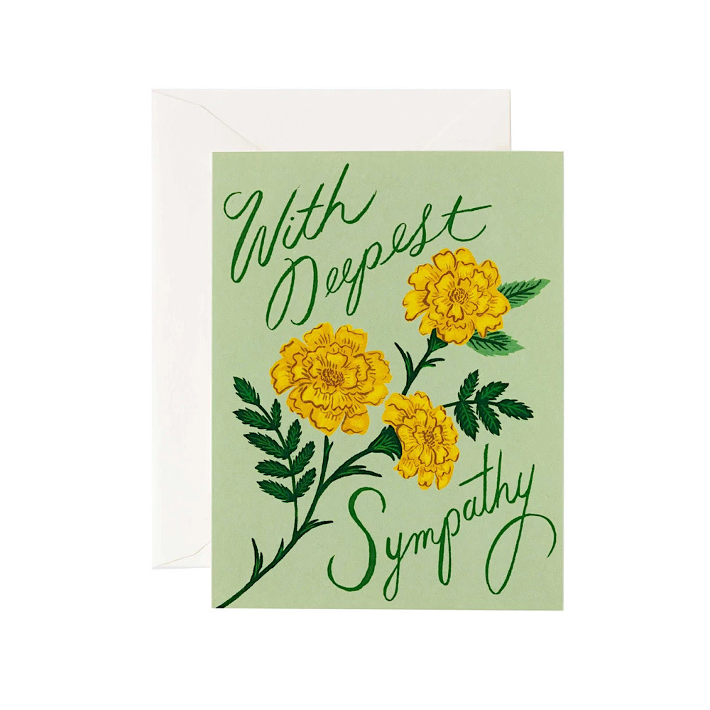 Rifle Paper Co. Rifle Paper Co. Card - Marigold Sympathy