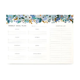 Rifle Paper Co. Rifle Paper Co. Weekly Meal Planner - Garden Party Blue