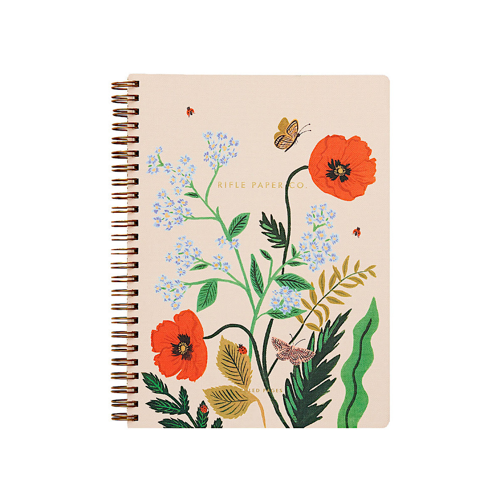 Rifle Paper Co. Spiral Notebook - Iceland Poppy Botanical