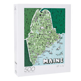 We Are Brainstorm Maine State Jigsaw Puzzle - 500 Piece