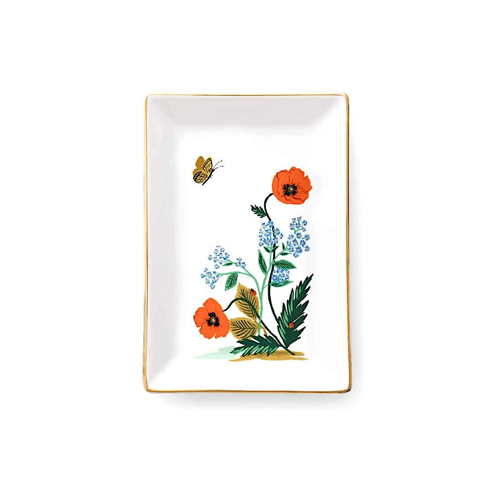Rifle Paper Co. Catchall Tray - Poppy Botanical