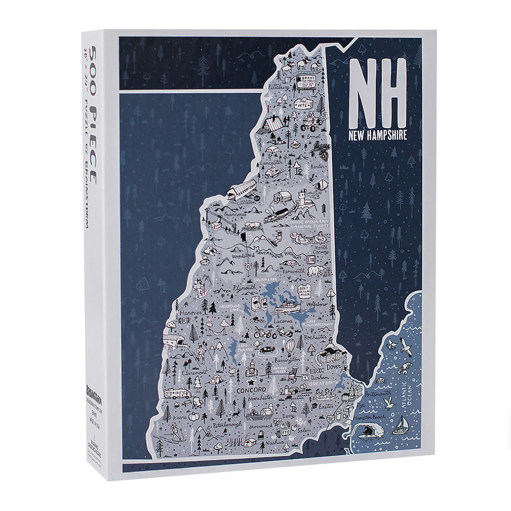New Hampshire State Jigsaw Puzzle - 500 Piece