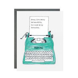 The Paperhood (Made In Brockton Village) The Paperhood Card - Love Typewriter