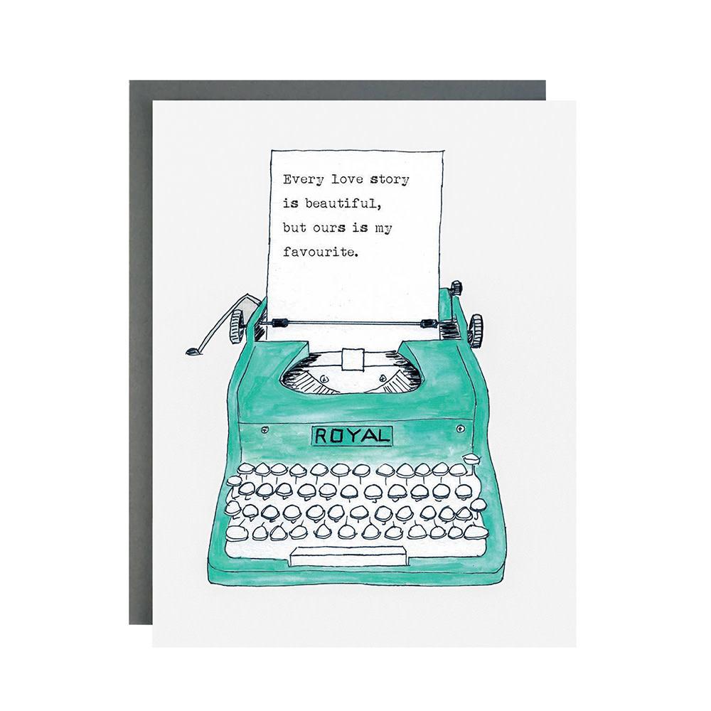 Made In Brockton Village Card - Love Typewriter
