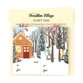 The Paperhood (Made In Brockton Village) The Paperhood Gift Tags - Winter Cottage & Cross Country