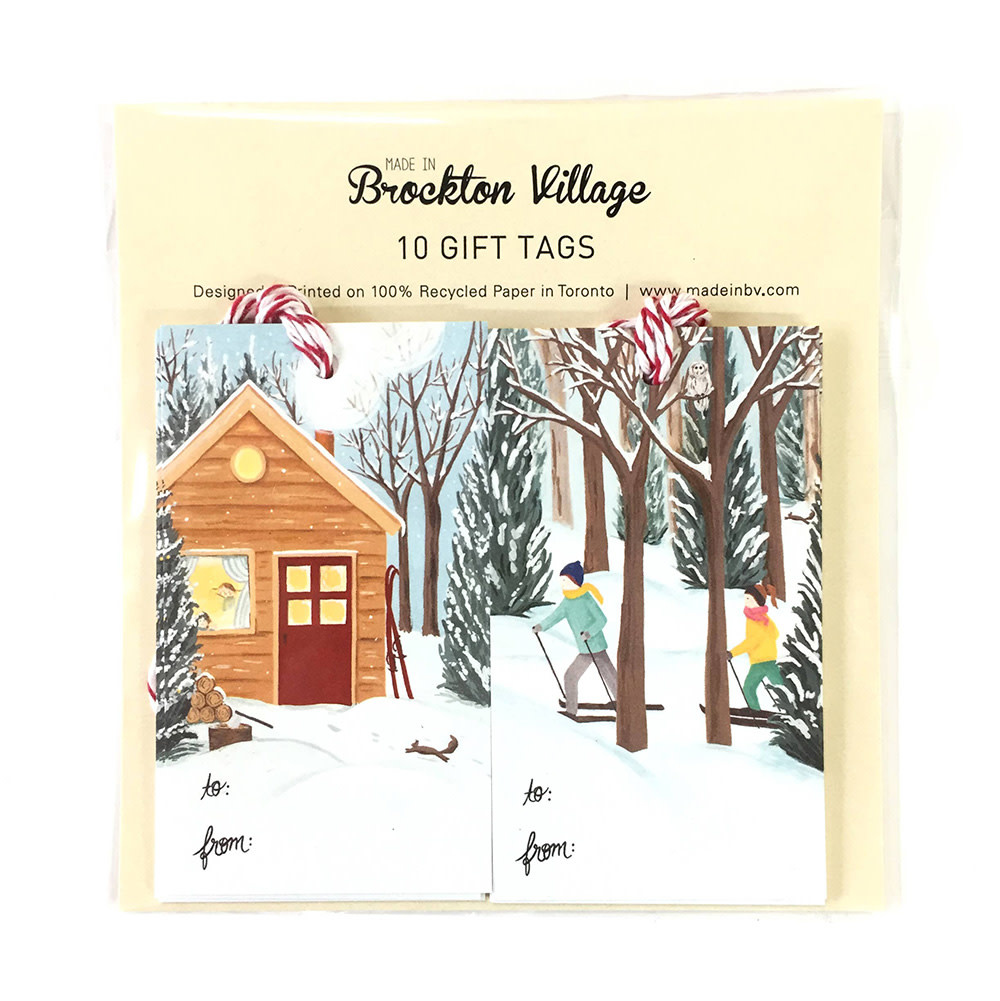 The Paperhood Gift Tags - Winter Cottage & Cross Country