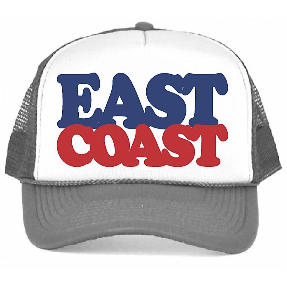 Tiny Whales East Coast Kid's Trucker Hat - Gray/White