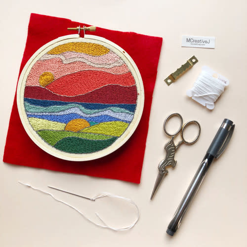 Embroidery Kit - Stained Glass