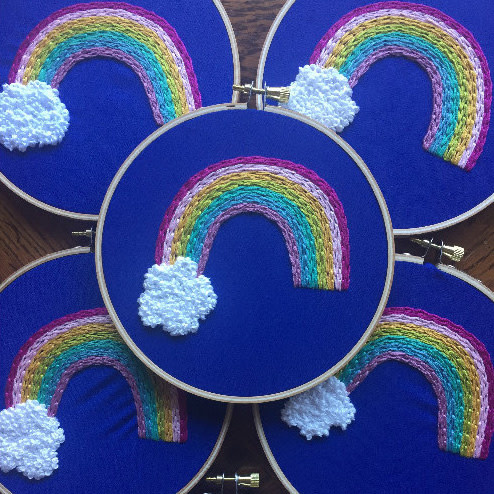 Embroidery Kit - Whimsical Rainbow