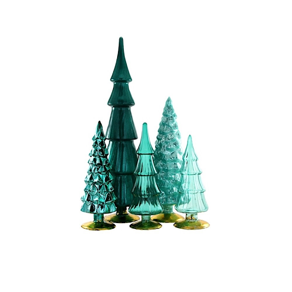 Glass Hue Trees - Teal