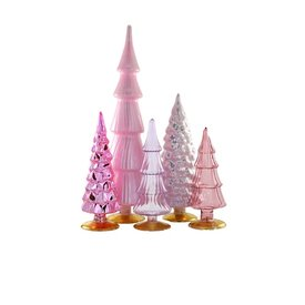 Cody Foster & Co Glass Hue Trees - Rose