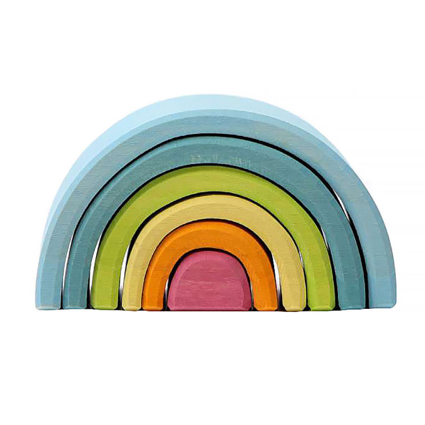 Grimms Pastel Rainbow Stacker - Small 6 Piece