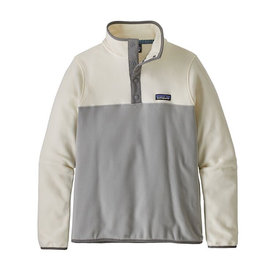 Patagonia Patagonia Womens Micro D Snap-T Pullover - Drifter Grey w/ Warm White