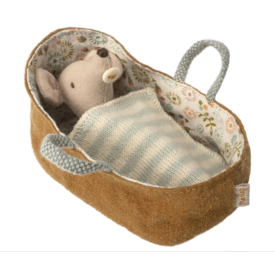 Maileg Maileg Mouse - Baby Mouse in Carrycot