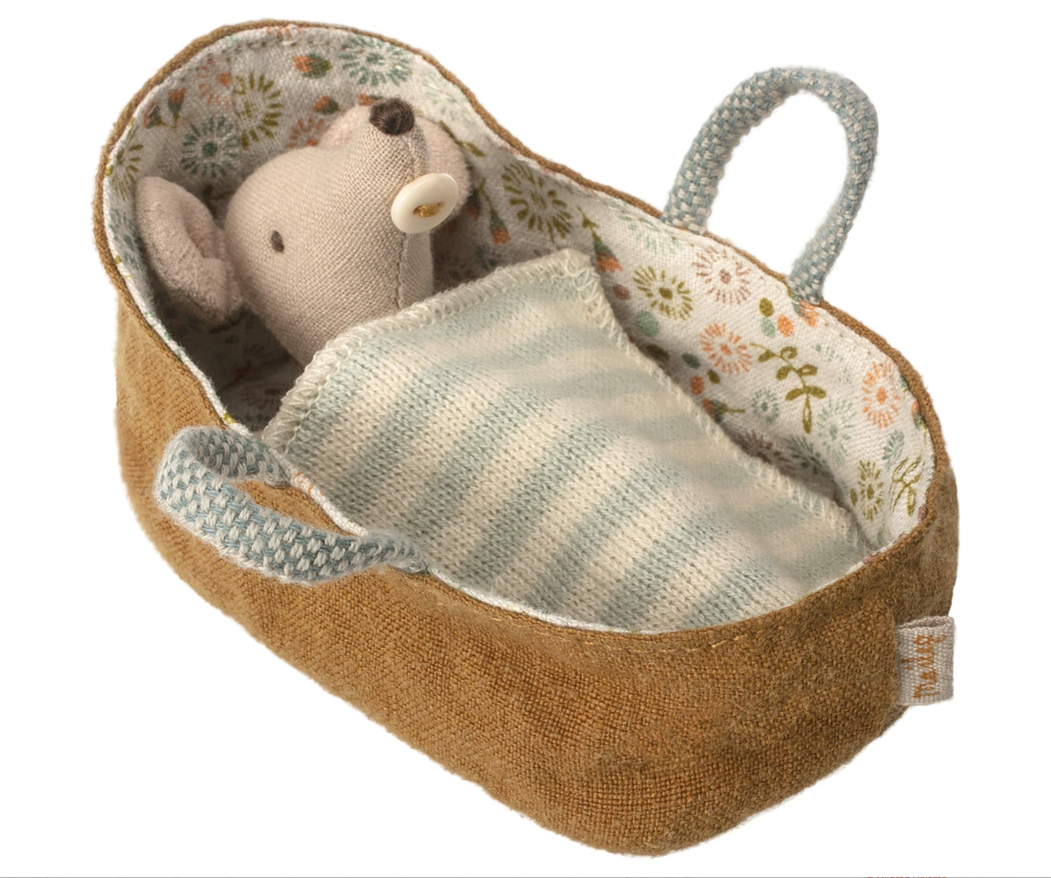 Maileg Mouse - Baby Mouse in Carrycot