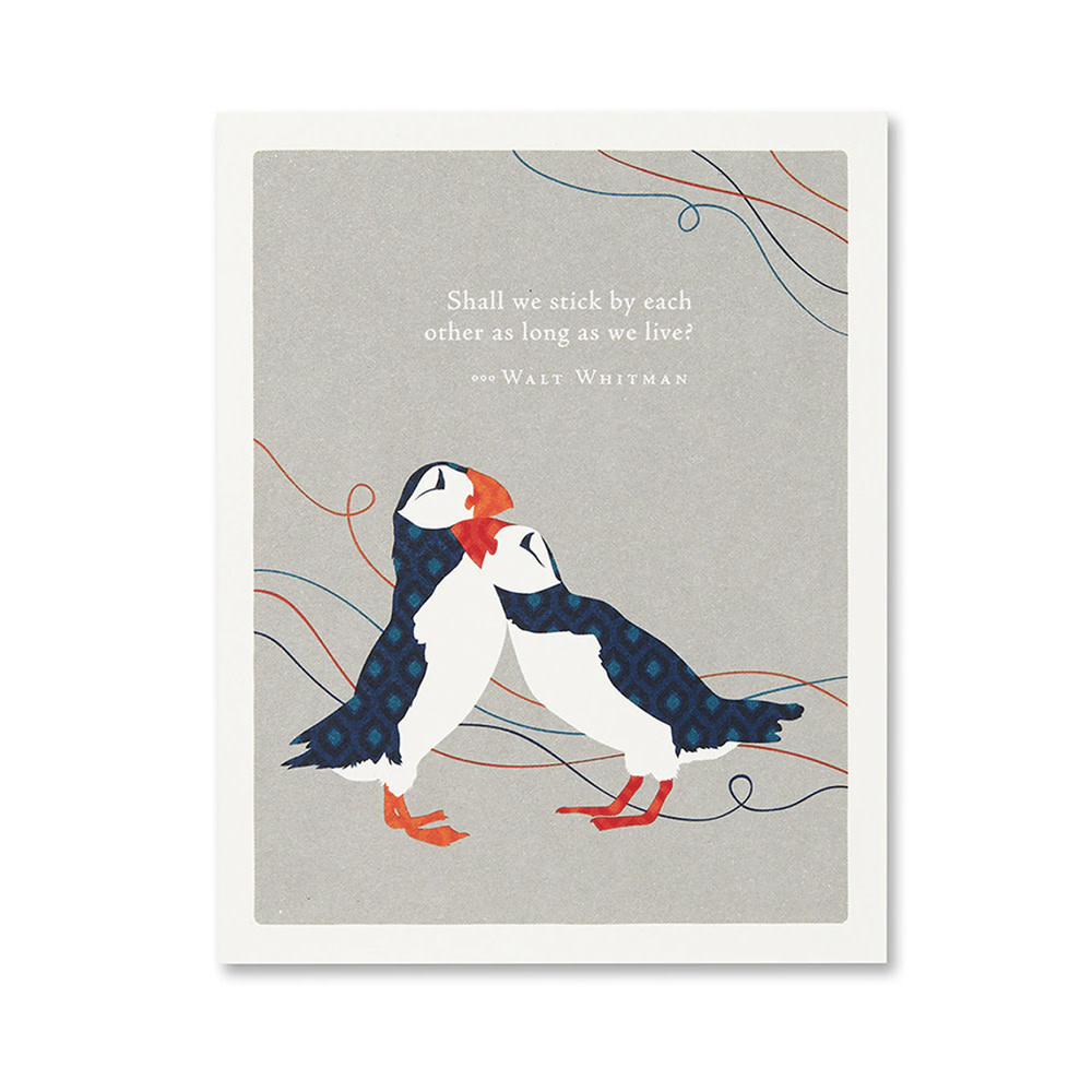 Anniversary Card - Shall We Stick By Each Other