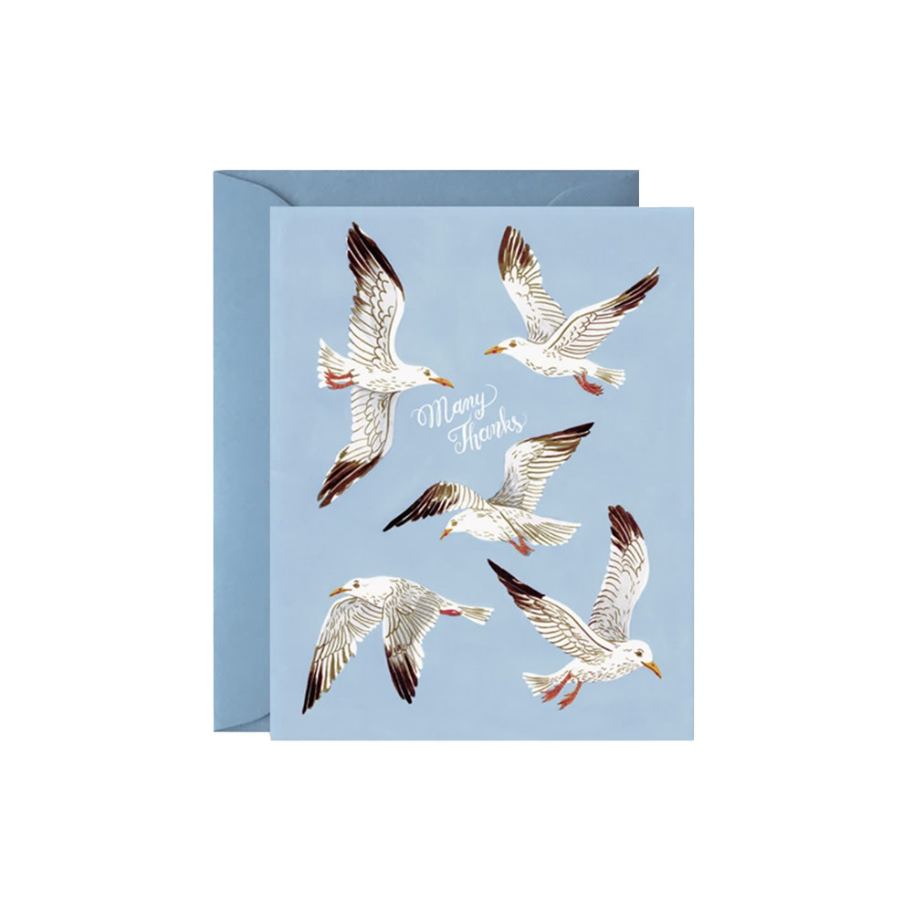 Oana Befort Card - Seagulls Many Thanks
